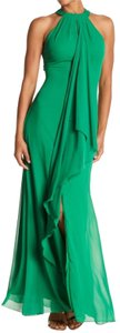 Meghan LA Halter Ruffle Maxi Dress