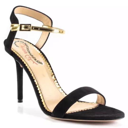 Preload https://img-static.tradesy.com/item/24261656/charlotte-olympia-black-gold-quintessential-suede-leather-ankle-buckle-sandal-375-7-pumps-size-us-75-0-0-540-540.jpg