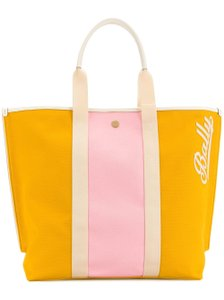 Bally Canvas Bright Color Tote in Yellow