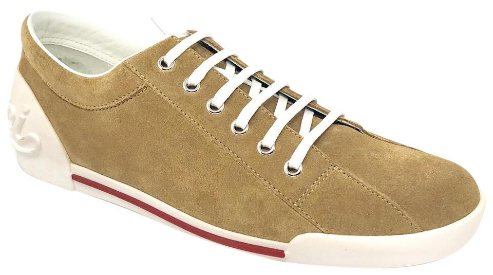 f9a37f8efc4 Gucci Brown Women s Light Camel Suede Softy Tek Low-top Sneakers ...