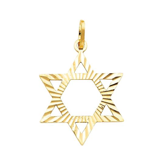 Top Gold & Diamond Jewelry 14k Yellow Gold Star David Pendant Image 0