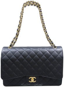 Chanel Caviar Maxi Double Flap Shoulder Bag