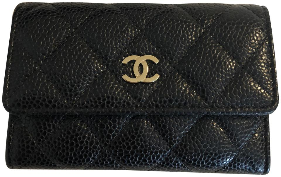 84ef648b88a1c4 Chanel Chanel Card Case Black Caviar Leather GHW Image 0 ...