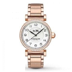 Coach Coach Women's Madison Rose Gold-Plated Bracelet Watch 32mm