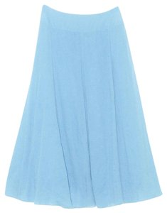 Soft Surroundings Talls Full Gauze Crinkle Cotton Maxi Skirt Blue