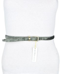 BCBGeneration BCBG Grey Shimmering Faux Leather Belt