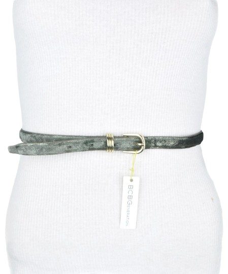 Preload https://img-static.tradesy.com/item/24262050/bcbgeneration-green-bcbg-grey-shimmering-faux-leather-belt-0-3-540-540.jpg