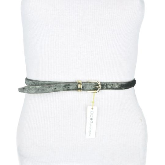 BCBGeneration BCBG Grey Shimmering Faux Leather Belt Image 2