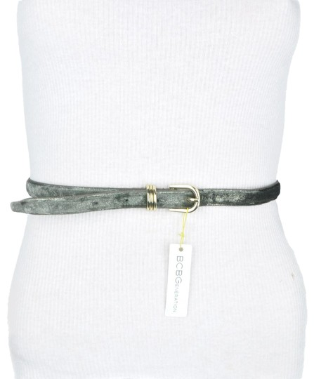 Preload https://img-static.tradesy.com/item/24262057/bcbgeneration-green-bcbg-grey-shimmering-faux-leather-belt-0-3-540-540.jpg