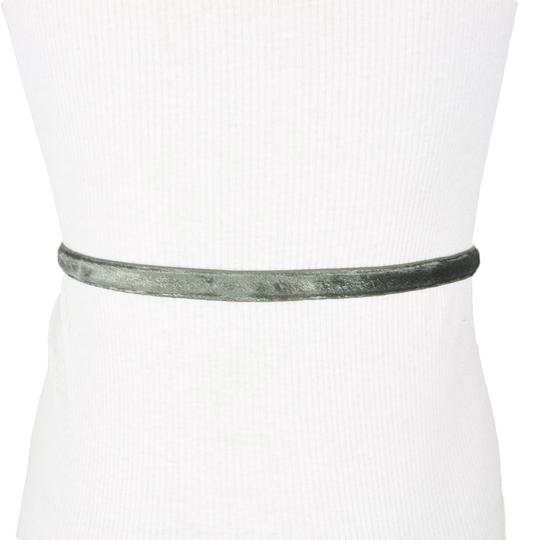 BCBGeneration BCBG Grey Shimmering Faux Leather Belt Image 1