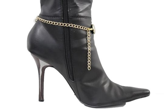 Alwaystyle4you Women Boot Chain Anklet Bracelet Heel Shoe Gold Drop Charm Jewelry Image 1