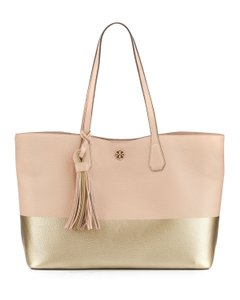 Tory Burch Carryall Metallic Gold Tote in Multicolor