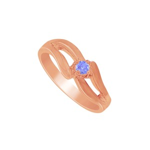 DesignerByVeronica Awesome Jewelry Gift Tanzanite Mother Ring in 14K Rose Gold Vermeil