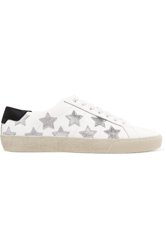 acb904dc3f37 Saint Laurent White Silver - Classic Court Sneakers Sneakers Size EU ...
