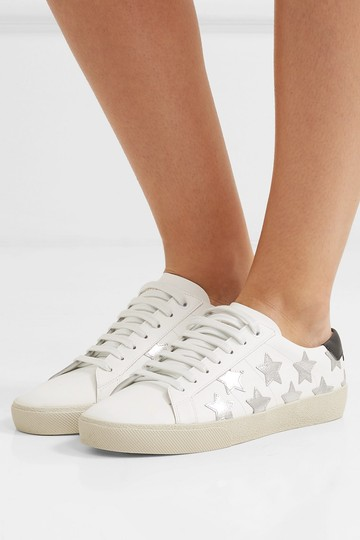 Saint Laurent Sneakers Ysl Metallic white, silver Athletic Image 3