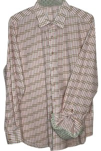 Robert Graham Button Down Shirt White, Red , Green