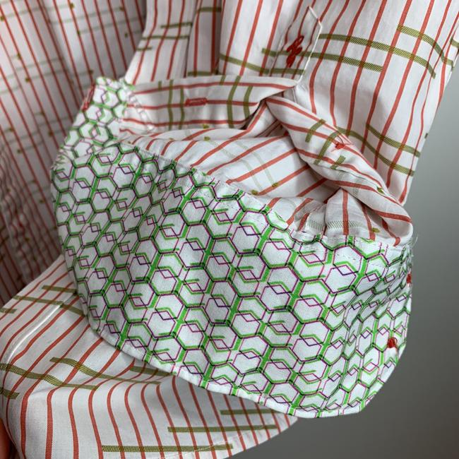 Robert Graham Button Down Shirt White, Red , Green Image 5