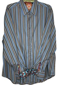 Robert Graham Button Down Shirt Blue