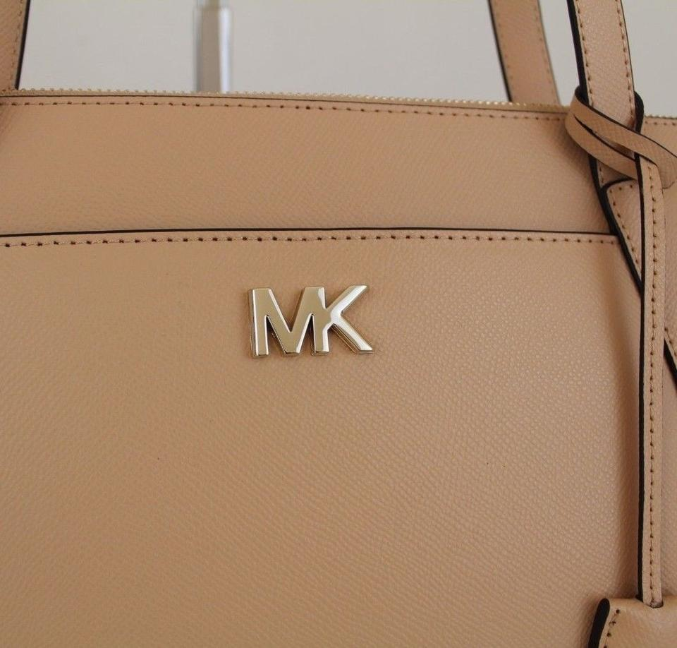 4fa162719b7a Michael Kors East West Maddie Medium Butternut Beige Leather Tote - Tradesy