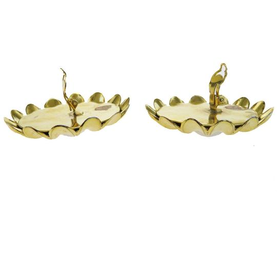Chanel CHANEL Flower Earrings Imitation Pearl Clip-On Gold Image 1