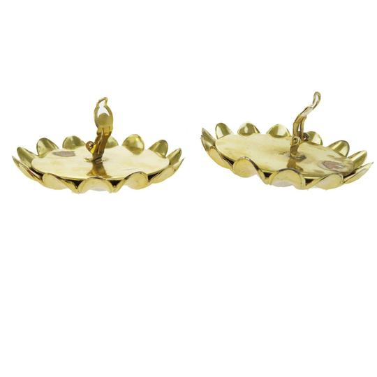 Chanel CHANEL Flower Earrings Imitation Pearl Clip-On Gold Image 3
