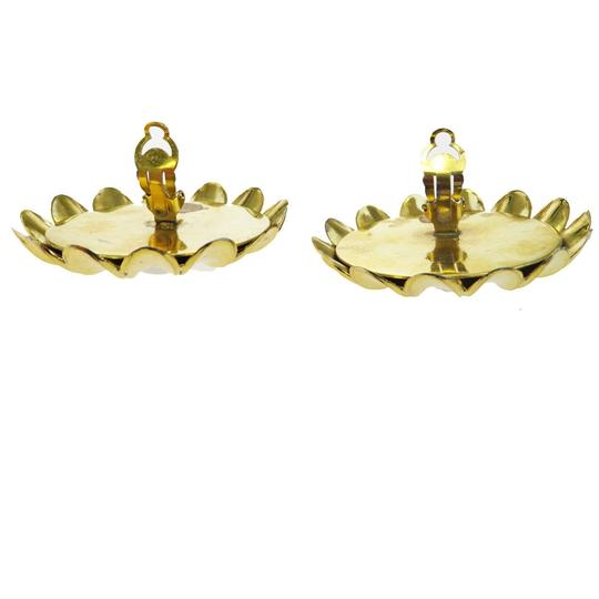 Chanel CHANEL Flower Earrings Imitation Pearl Clip-On Gold Image 4
