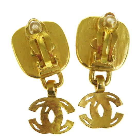 Chanel CHANEL CC Logos Earrings Gold-tone Silver Plated Clip Image 2