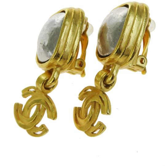 Chanel CHANEL CC Logos Earrings Gold-tone Silver Plated Clip Image 6