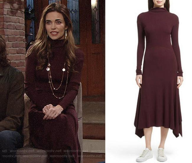 DARK CURRANT Maxi Dress by Theory Image 1
