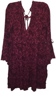 American Eagle Outfitters short dress Maroon print on Tradesy