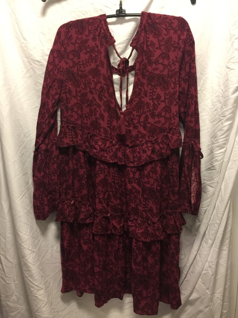 American Eagle Outfitters short dress Maroon print on Tradesy Image 1