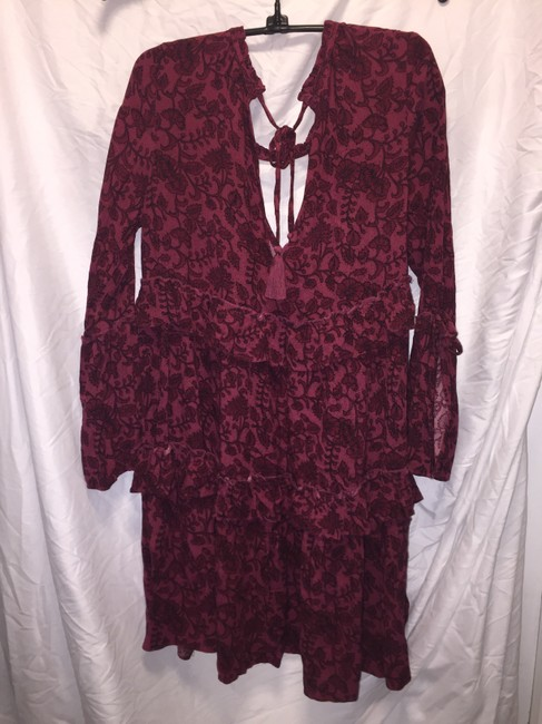 American Eagle Outfitters short dress Maroon print on Tradesy Image 4