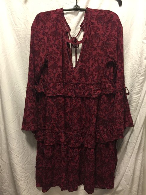 American Eagle Outfitters short dress Maroon print on Tradesy Image 5