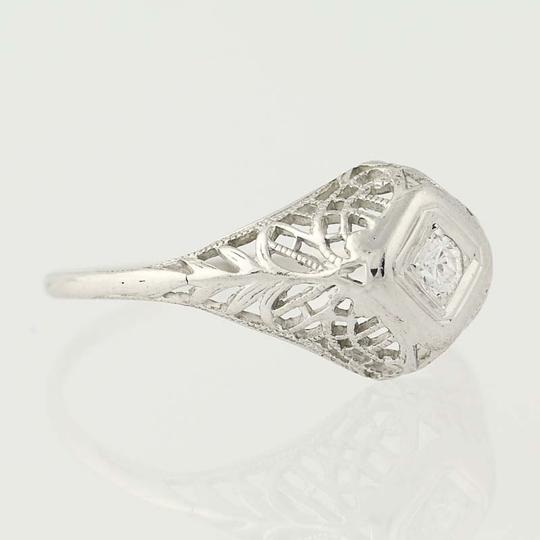 Other Art Deco Diamond Engagement Ring - 18k Gold Transitional N7055 Image 1
