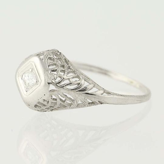 Other Art Deco Diamond Engagement Ring - 18k Gold Transitional N7055 Image 2