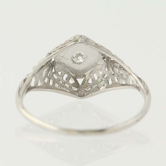 Other Art Deco Diamond Engagement Ring - 18k Gold Transitional N7055 Image 4