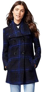Maralyn & Me Double Breasted Cold Weather Peacoat Plaid Coat