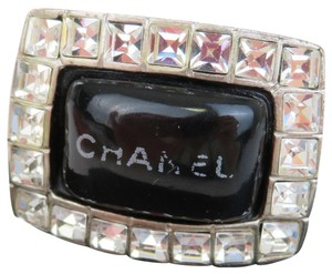 Chanel CHANEL Ring Accessories Rhinestone Silver Plated Plastic #7.0