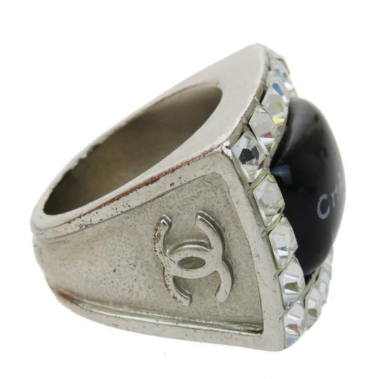 Chanel CHANEL Ring Accessories Rhinestone Silver Plated Plastic #7.0 Image 2