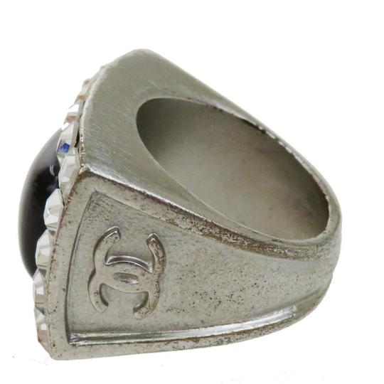 Chanel CHANEL Ring Accessories Rhinestone Silver Plated Plastic #7.0 Image 5