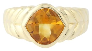 Other Citrine Solitaire Ring - 14k Yellow Gold N7537
