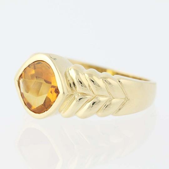Other Citrine Solitaire Ring - 14k Yellow Gold N7537 Image 2