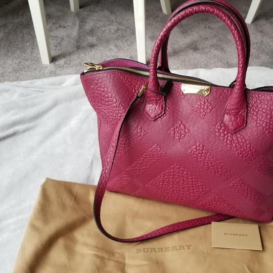 Burberry Tote in Dark Plum Image 3