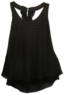 Bisou Bisou Top Michele Bobot black with gold dots