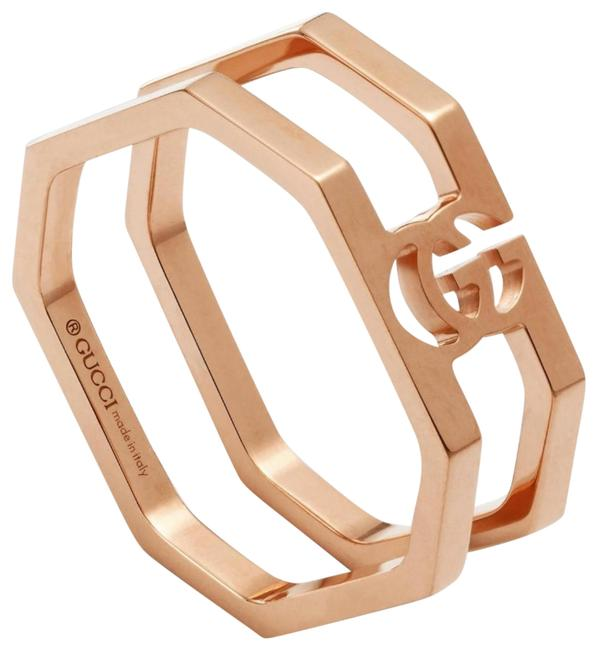 Item - 18k Rose Gold Gg Running G Collection Interlocking G Size 6.5 Ring