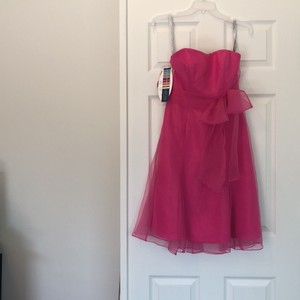 Alfred Angelo Fuchsia Taffeta Feminine Bridesmaid/Mob Dress Size 2 (XS)