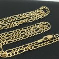 other 14K Two-Tone Gold Figaro Chain ~2.50mm 24