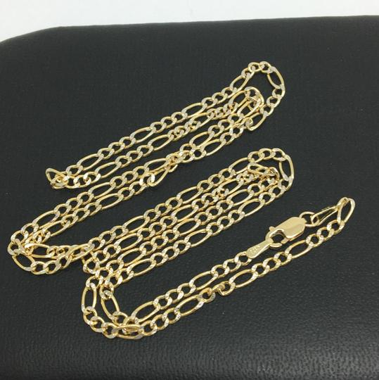 other 14K Two-Tone Gold Figaro Chain ~2.50mm 22