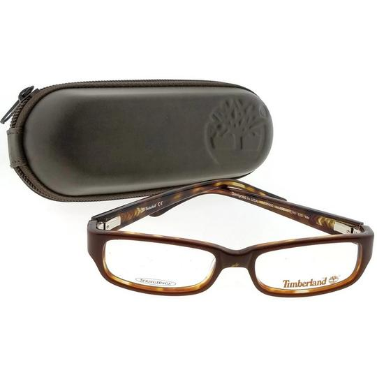 Timberland TB5052-050-47 Rectangle kid's Brown Frame Clear Lens Eyeglasses Image 2
