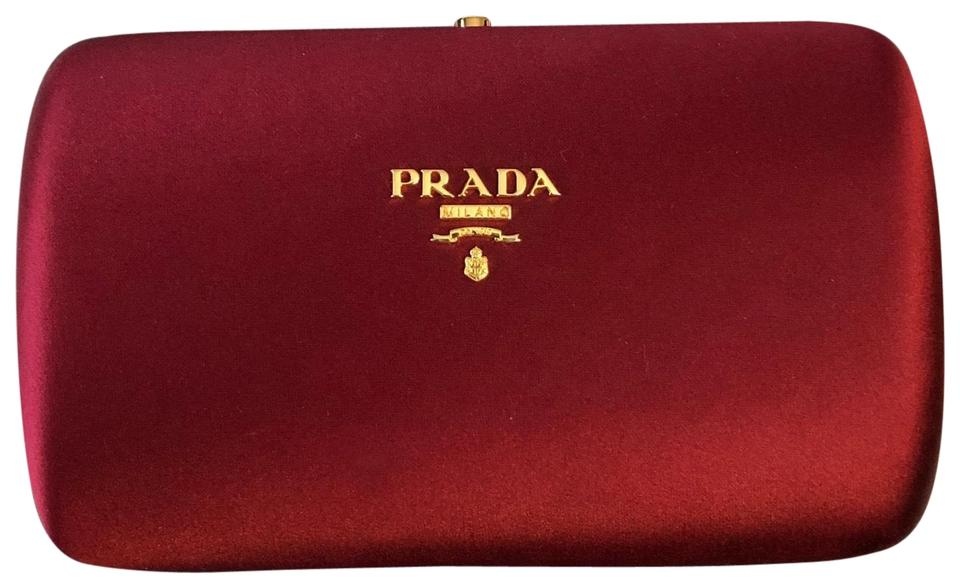 e8e2469bcf Prada Red Satin Clutch - Tradesy